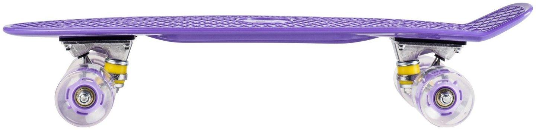 Deskorolka Fiszka 56cm - koła LED - fioletowa