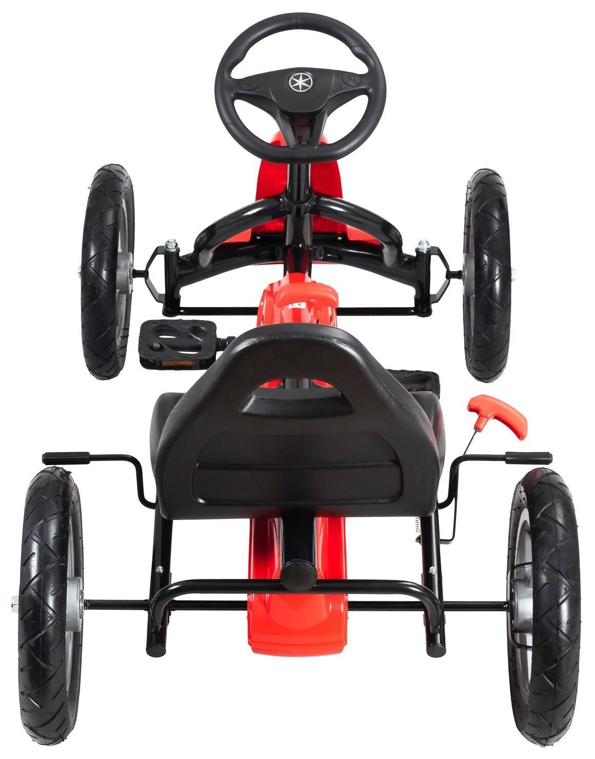 Gokart dla dzieci na pedały EVOQUE - jeździk dla dzieci 5-12 lat - czerwony