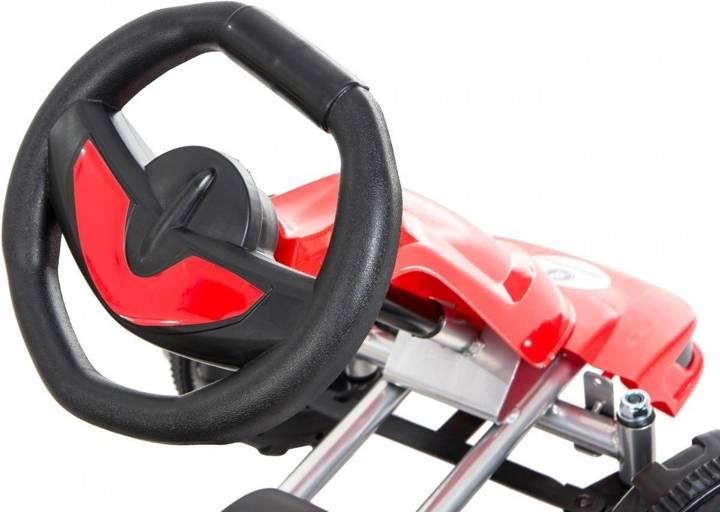 Gokart na pedały - jeździk dla dzieci 3-6 lat - czerwony