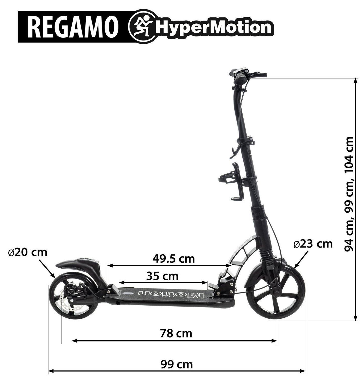 Hulajnoga dla dorosłych HyperMotion REGAMO - czarna