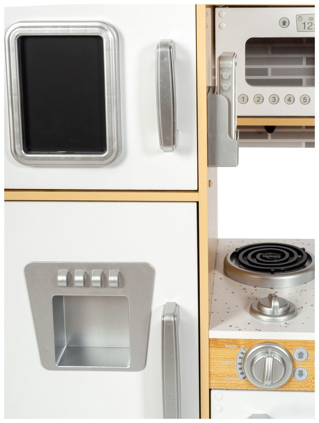 Kuchnia drewniana XXL z oświetleniem LED, fartuszkiem i akcesoriami