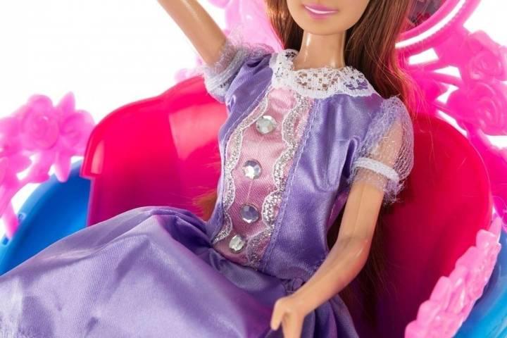 Lalka Anlily - Królewski powóz - brunetka