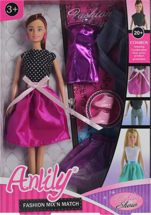 Lalka Anlily - Modowe przebieranki - brunetka