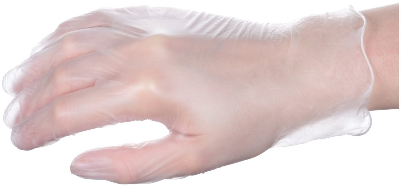 Rękawice winylowe medyczne diagnostyczno-ochronne - bezpudrowe - 100 sztuk - rozmiar M