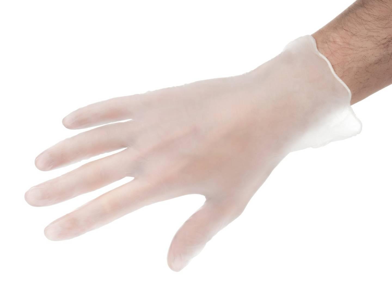 Rękawice winylowe ochronne - bezpudrowe - 100 sztuk - rozmiar L