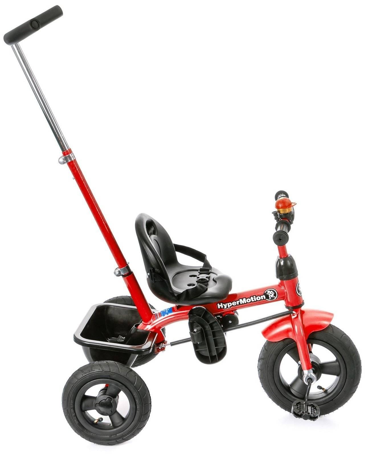 Rowerek Trójkołowy z pchaczem i pompowanymi kołami TOBI BASIC AIR - czerwony
