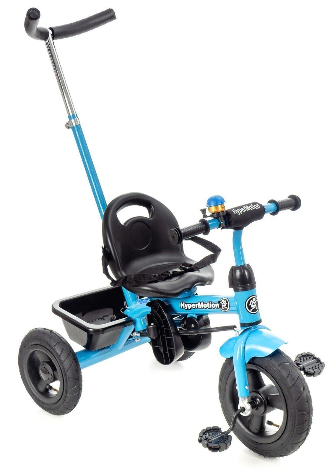 Rowerek Trójkołowy z pchaczem i pompowanymi kołami TOBI BASIC AIR - niebieski