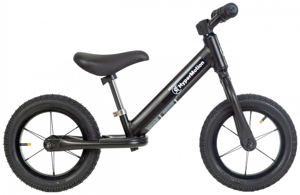 Rowerek biegowy ALU HyperMotion COVAGGIO - pompowane koła, aluminiowa rama - czarny