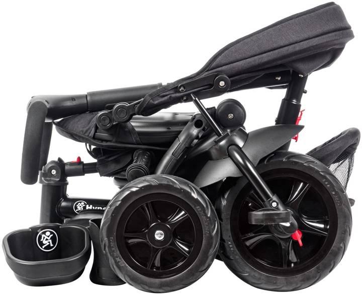 Rowerek trójkołowy HyperMotion TOBI MAJESTIC - składany. Kolor: czarny