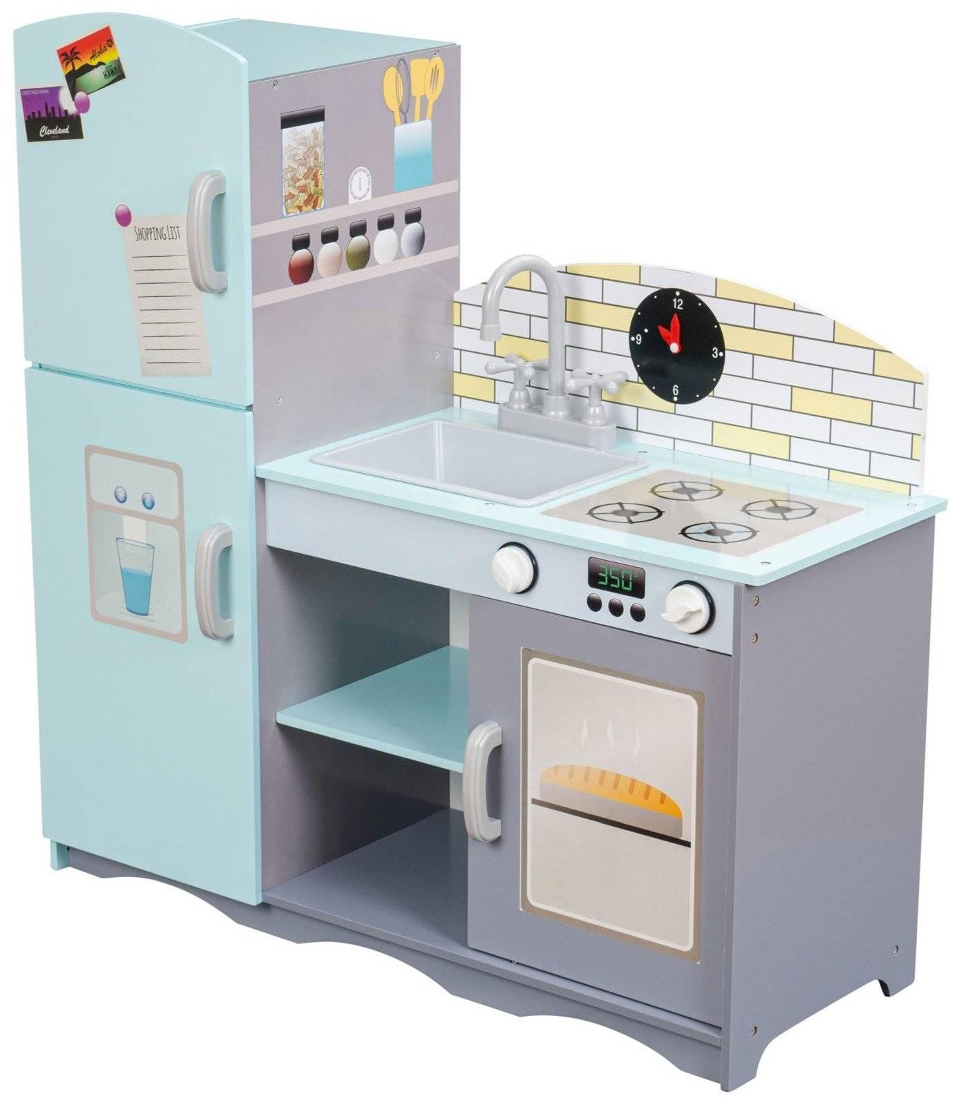 Wielka drewniana kuchnia dla dzieci + akcesoria i fartuch kuchenny Gratis!