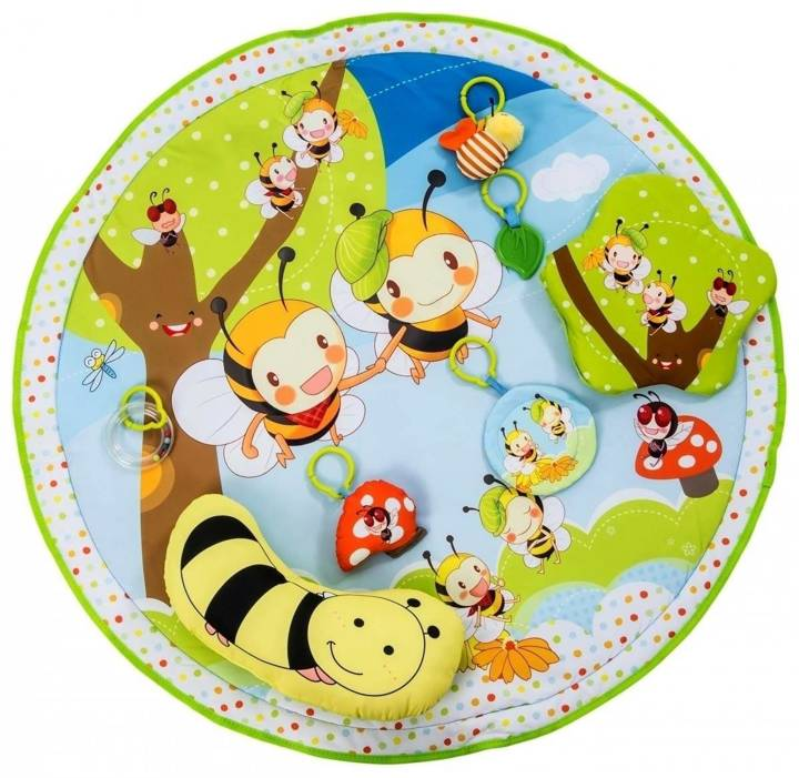 Wielofunkcyjna Mata edukacyjna Szczęśliwa Pszczółka 5w1