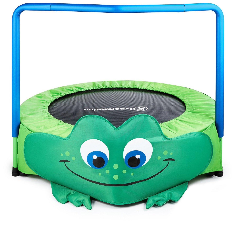 Żabka - mini trampolina dla dzieci - z rączką - 50kg max - 91cm -  do domu i ogrodu